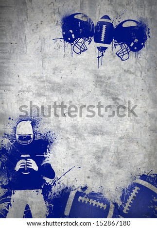 Abstract grunge american football invitation poster or flyer background with space