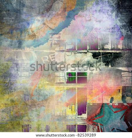 Abstract grunge background, art illustration
