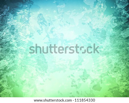 abstract grunge background in blue and green