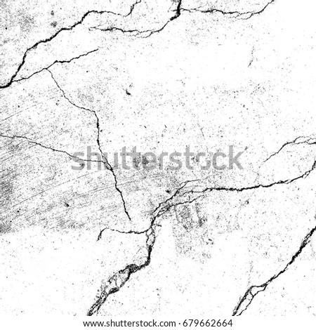 Abstract grunge background of black and white. Black white vintage texture. Old background from cracks, stains, damage #679662664