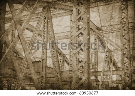abstract  grunge background with bridge structure
