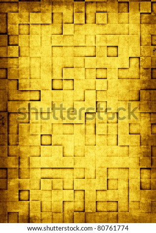 Abstract grunge background with square tiles