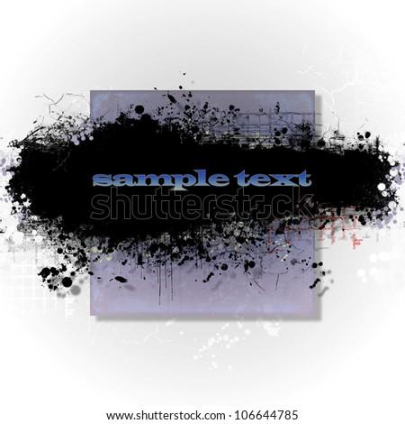 Abstract grunge banner design element