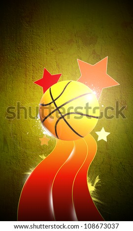 Abstract grunge color basketball background with space