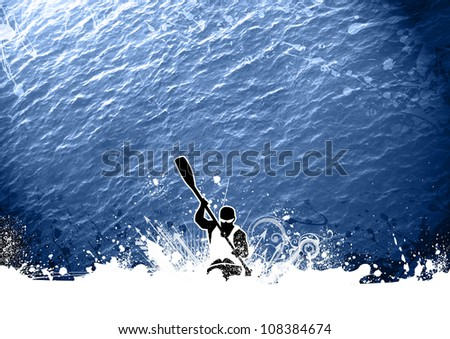 Abstract grunge color Kayak background with space