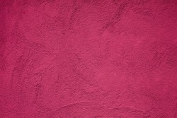 Abstract Grunge Decorative Deep Pink Plaster Wall Texture. Art Rough Background With Copy Space. Beautiful Glamour Wallpaper