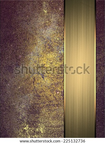 Abstract grunge gold blue texture with gold ribbon. Grunge Purple background
