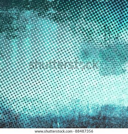 Abstract grunge gradient halftone #88487356