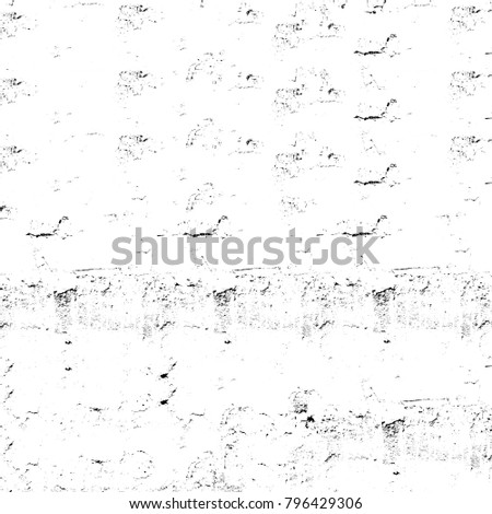 Abstract grunge grey dark stucco wall background. Splash of black and white paint. Art rough stylized texture banner, wallpaper. Backdrop with spots, cracks, dots, chips. Monochrome print #796429306