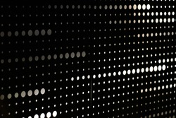 Abstract grunge grid polka dot halftone background pattern. Spotted black and white line illustration. Textures.