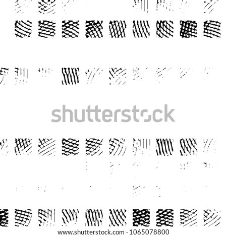 Abstract grunge grid polka dot halftone background pattern. Spotted black and white line illustration  #1065078800