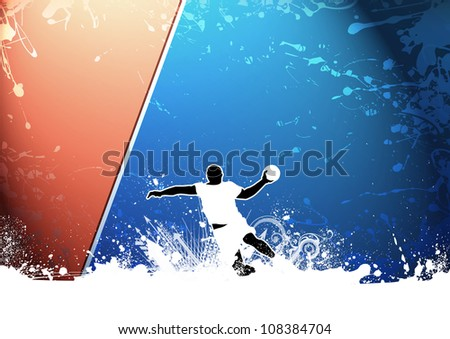 Abstract grunge Handball shot background with space