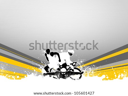 Abstract grunge triathlon sport background with space