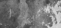 Abstract Grunge white grey concrete Texture for design. Rough dirty plaster Surface Wall building Background. Wide Angle Horizontal Image Close up With Copy Space