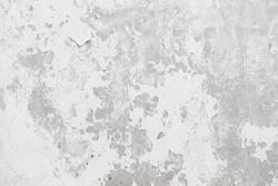 Abstract Grunge White Paint peeling plaster walls. damaged concrete white background.