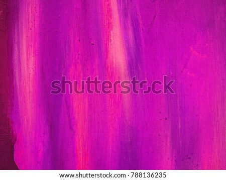 Abstract grungy hot pink, violet red and dark magenta colorful hand drawn oil smears with canvas texture