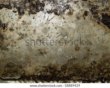 Abstract grungy metal surface closeup background.