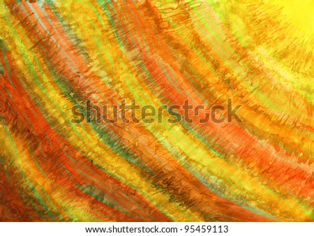 Abstract hand drawn paint background simulating painting on canvas.