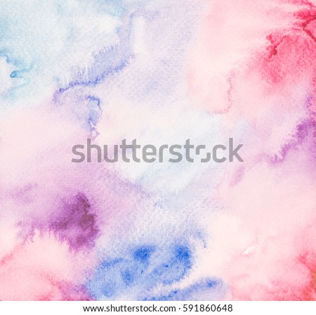 Abstract hand  drawn watercolor. Colorful splashing in the paper. It is wet texture background with paint brushes. Picture for creative wallpaper or design art work. Pastel colors tone.