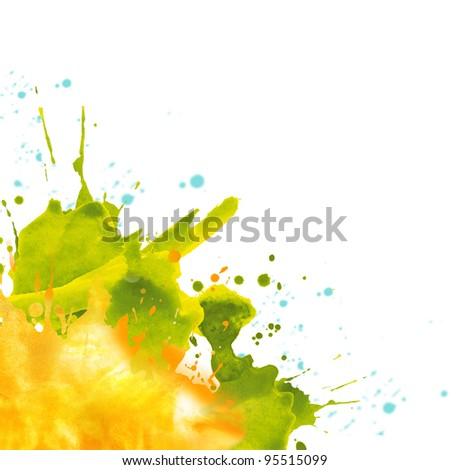 Abstract hand drawn watercolor paint splash