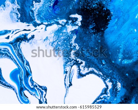 Abstract hand painted background, wallpaper, texture, acrylic painting on canvas. Modern art. Contemporary art. Blue creative painted. - Shutterstock ID 615985529