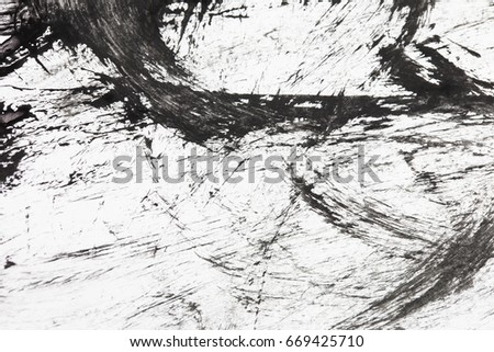 Abstract Hand painted Watercolor black and white background. Watercolor texture for creative wallpaper or design art work.  Abstract grunge texture black and white  #669425710