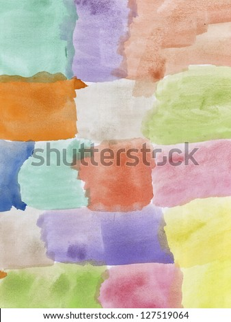 Abstract hand painted watercolor . Nice background for your projects