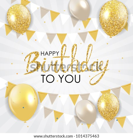 Abstract Happy Birthday Background Card Template  Illustration