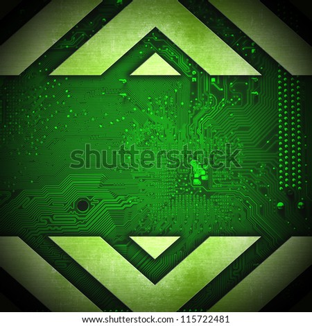 Abstract hi-tech electronic background. Circuit board