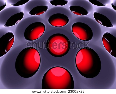 Abstract high-tech black structure. 3d rendered image.