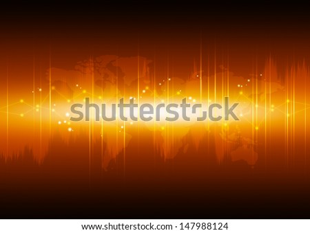 Abstract high technology background with diagram