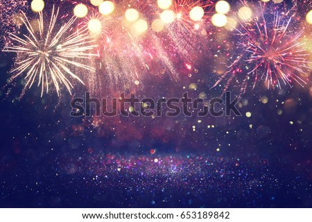 abstract holiday firework background #653189842