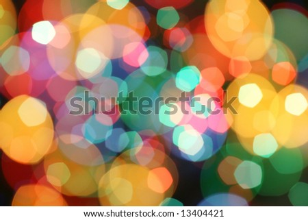 Abstract holiday lights