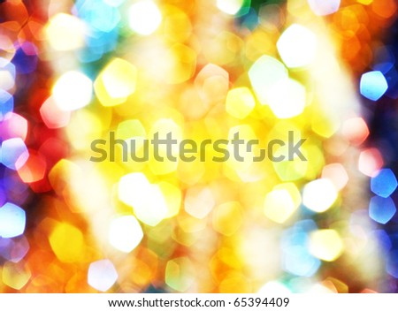 Abstract holidays lights