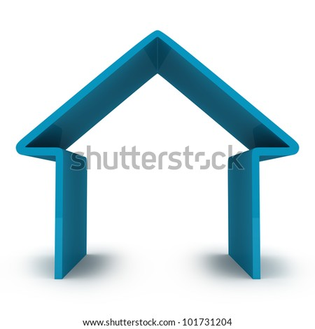 abstract house isolated on white
