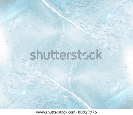 abstract ice cube for background