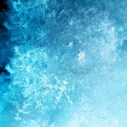 abstract ice snow flake winter background