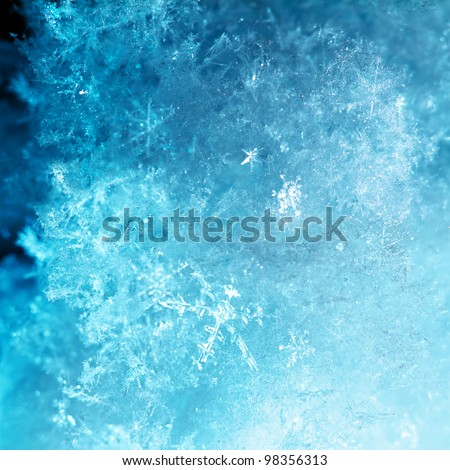 abstract ice snow flake winter background - stock photo