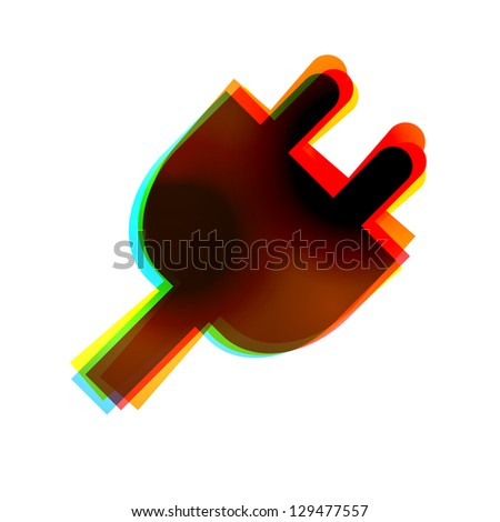 abstract icon on white background