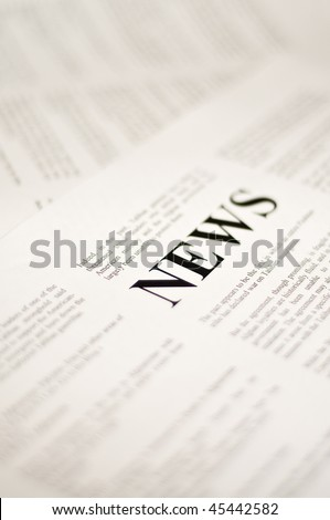 Abstract idea for reading the news