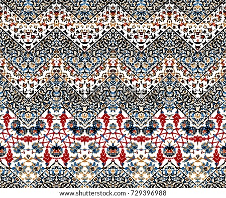 abstract iket zig zag pattern
