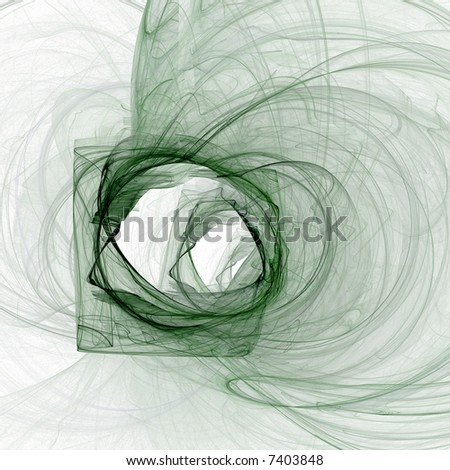 Abstract illustration. Color: green on white background