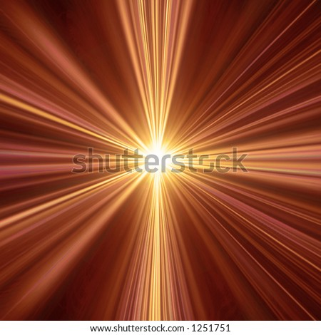 Abstract illustration of a  light tunnel. Could be used as a spiritual concept design or a sunburst background.