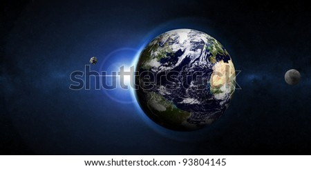 Abstract Illustration of Armageddon - Planet Earth Disaster (Image 1 from 3 to view pictures from this series, please visit my portfolio) - stock photo
