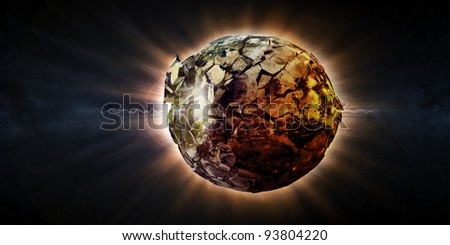 Abstract Illustration of Armageddon - Planet Earth Disaster (Image 2 from 3 to view pictures from this series, please visit my portfolio)