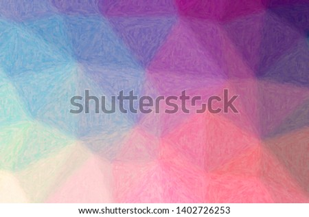 Abstract illustration of blue, purple Impasto background.