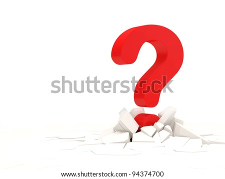 Abstract Illustration of Red Question Mark with place for your text