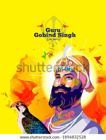 abstract illustration of remembering sikh Guru gobind singh Jayanti