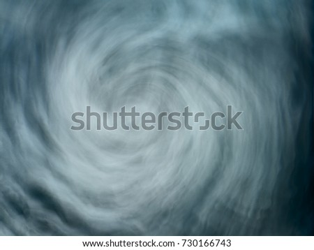 Abstract illustrative stormy blue water maelstrom vortex #730166743