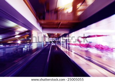 abstract image a moving escalator
